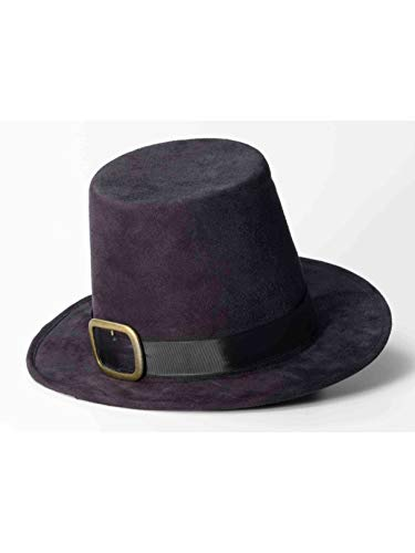 Forum Novelties Super Deluxe Pilgrim Hat Black/Gold ()