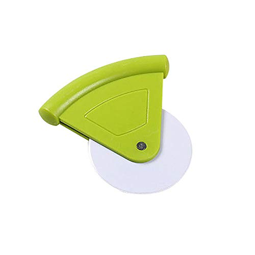 (9OVE, Pizza Cutter, Baking Tool, Portable Plastic Round Shape Cake Bread Knife Cutting - Green)