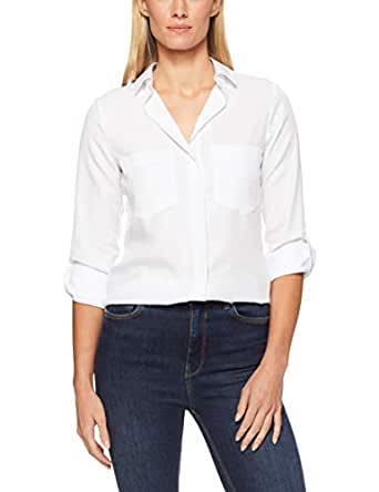 French Connection Women's Essential Botton Through Shirt, Summer White, Fourteen