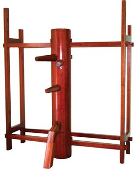 Traditional Wing Chun Wooden Dummy with Stand by TMAS
