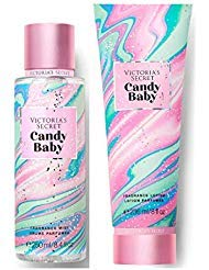 Victorias Secret Pink Sweet Fix Fragrance Mist and Lotion Set (2PC) - 8.4 fl oz & 8 fl oz (Candy Baby) by Pink Victoria Secret