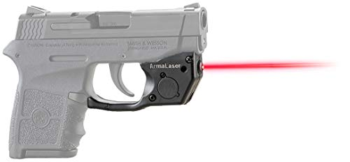 ArmaLaser TR24 Designed for S&W Bodyguard 380 Red Laser Sight Grip Activation (Smith And Wesson Bodyguard 380 Laser Battery Size)