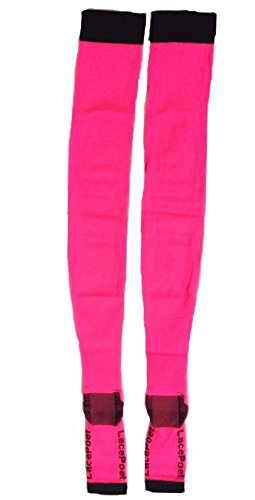a57abac8a Lace Poet Neon Pink Yoga/Sleep Thigh-High Compression Toeless Socks