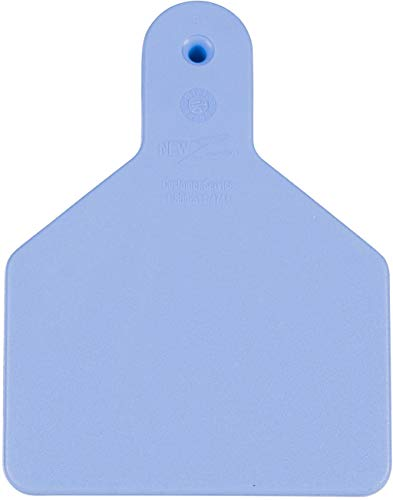 - Z Tags 25 Count 1-Piece Blank Tags for Calves, Blue