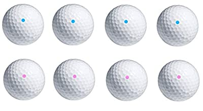 PakedDeals 4 Balls Same Color Gender Reveal Pink or Blue Powder Exploding Golf Ball