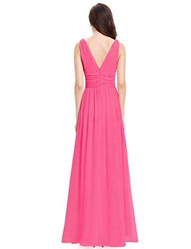 Ever Pretty V-Col Robe de Bal Comfortable 44 Rose