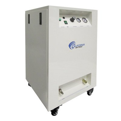 California Air Tools 8010SPC Ultra Quiet and Oil Free 1 HP Steel Tank Air Compressor in Sound Proof Cabinet, 8-Gallon by California Air Tools