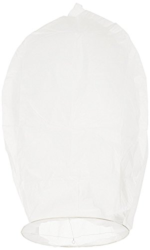 Gladle Eco Sky Lanterns & Flying Wish Candles For Parties, Weddings&Birthdays White 10PC 100% Biodegradable