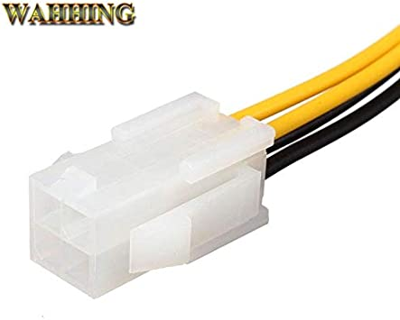Cable Length: 10pcs ShineBear 10pcs 20cm ATX 4 Pin Male to 4Pin Female PC CPU Power Supply Extension Cable Cord Connector Adapter HY415
