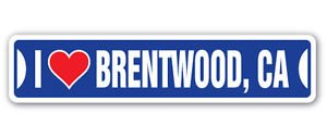 Brentwood Vinyl - I LOVE BRENTWOOD, CALIFORNIA Custom Sticker Decal Wall Window Door Art Vinyl Street Signs - 22