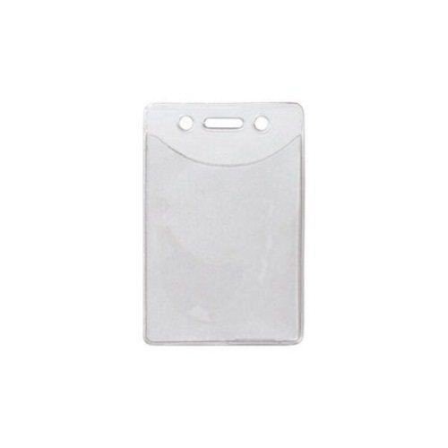- Clear Vertical Anti-Print Transfer Badge Holders - 100pk MyBinding 1815-1150 Clear