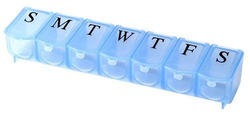 Apex 7-Day Pill Organizer, Ultra Bubble-Lok, 1 Organizer (Pack of 2) ()