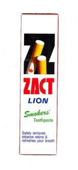 160 G. Zact Lion Toothpaste Smokers'. Advanced Stain Removal Formula Effectively Removes Tobacco Stains