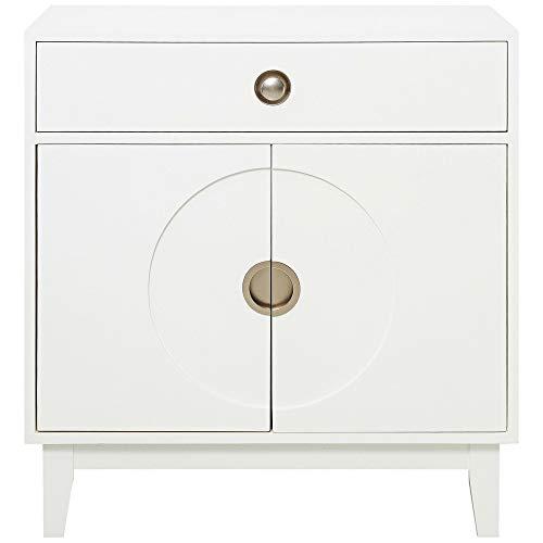 (Pulaski DS-D193-006 Mid-Century Modern White Accent Chest Cabinet)