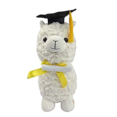 Graduation Llama with Cap with Tassel & Diploma 12 Plush Plays Pomp and Circumstance Graduation Walking March Song: Toys & Games