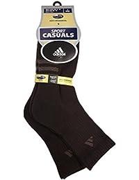 Men's Sock Size 10-13 Half Crew Brown Socks 2 Pairs
