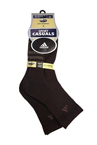 Adidas Men's Sock Size 10-13 Half Crew Brown Socks 2 Pairs ...