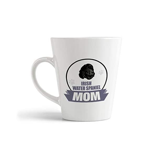Ceramic Custom Latte Coffee Mug Cup Mom Irish Water Spaniel Dog Tea Cup 12 Oz Design Only 1