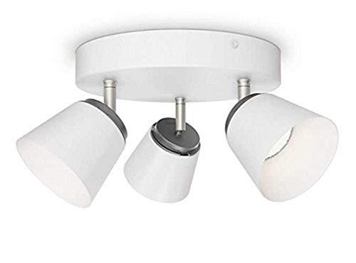 Philips Plafonnier 3 têtes blanc Dender Luminaire d'interieur