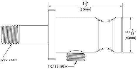 Speakman Matte Black Vs 159 Mb Supply Ell Hand Shower Holder Amazon Com