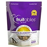 Fruitables Pumpkin & Blueberry Dog Treats (Pack of 8, 7-Ounce Pouches)