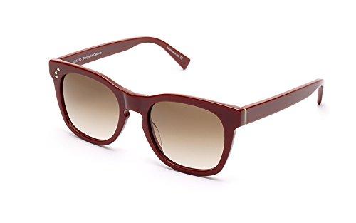 Burgundy Gradient Lens (SHAUNS California Tweed Classic Sunglasses Burgundy/Brown Gradient Lens 51-20)