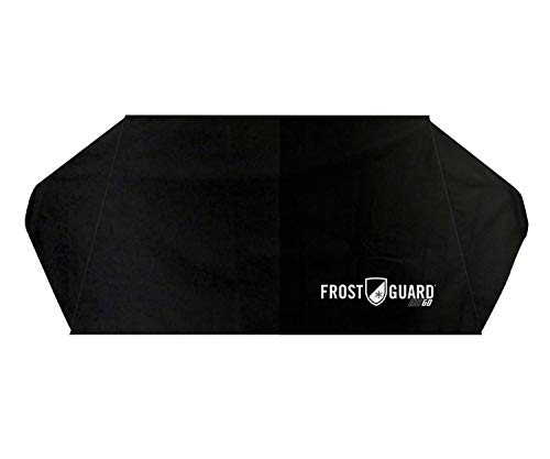FrostGuard Go   Portable Winter Windshield Cover with Security Panels and Travel Storage Pouch. Protects Essential Viewing Area from Snow, Ice and Frost. Fits Most Cars and Mid-Size SUVs.