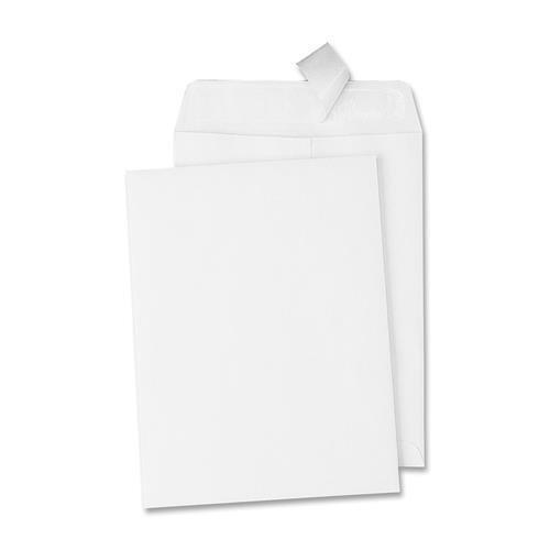 44782 Quality Park Redi-Strip Catalog Envelope - Catalog - #13 1/2 (10'' x 13'') - 28 lb - Peel & Seal - Wove - 100/Box - White by Quality Park
