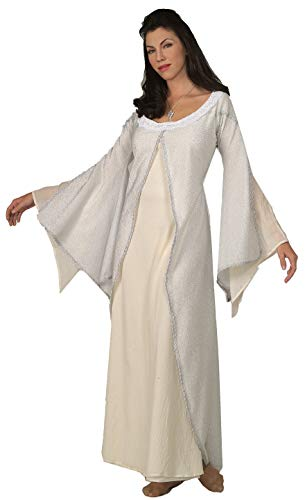 Lord Of The Ring Costumes (Rubie's Costume Co. Women's Lord of The Rings Deluxe White Arwen Costume Dress, One)