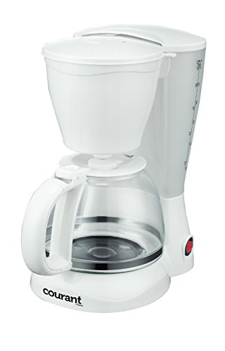 Courant CCM-815 8 Cup, Anti Drip, Coffee Maker, with Permanent filter & Spoon, White