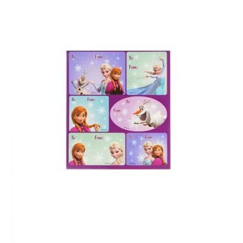 Disney Gift Tags - 18 Gift Stickers for Addressing To/From Gifts (Disney Frozen)