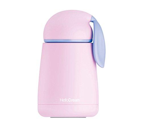 (Kids Water Bottles for Girls Boys Insulated Vacuum Thermal Cute Rabbit Coffee Mug,Leak Proof,BPA Free by INVODA (Purple))