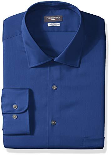 (Van Heusen Men's Size FIT Dress Shirts Flex Collar Solid (Big and Tall), Royal Blue 16.5