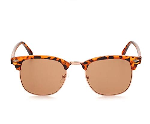 de Hombres sol Mujeres Brown Light para Medio UV400 estilo de Moda Guay de de protección gafas sol Huyizhi sol Conducción gafas Gafas viajar de leopardo de xCq5X4w6