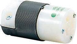 Hospital Grade 5-15R Black//White 15 amp 125V Hubbell HBL8219C Connector