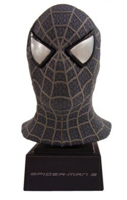 Spider-Man 3 Scaled Black Mask (Spiderman Mask Replica)