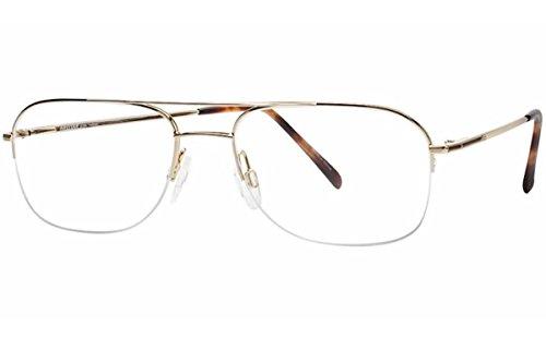 Aristar By Charmant Eyeglasses AR6764 AR/6764 501 Gold Plated Optical Frame 54mm
