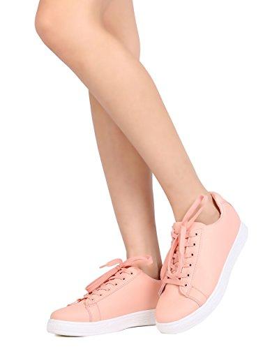 Sneaker Alrisco Da Donna In Similpelle - Casual, Scuola, Tutti I Giorni - Sneaker Low Top - Gc63 By Refresh Pink