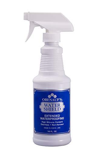 Obenaufs Water Shield Silicone Fabric Waterproofing Spray (16oz Spray Bottle)