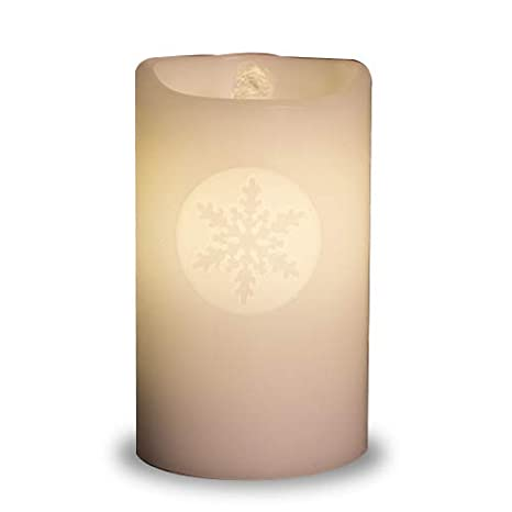 Fuente de Agua Vela de Cera con Luz LED y Motivo de Copo de Nieve con Cargador USB: Amazon.es: Hogar