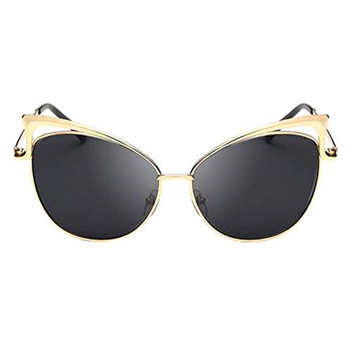 f61145d8b0 RazMaz Cat Eye Twin Beam Butterfly Fashion Mirror women s Sunglasses (Gold  Black)