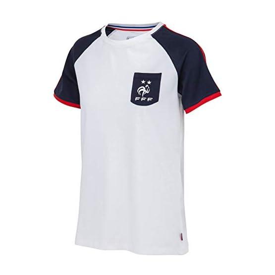 Equipe de FRANCE de football T-Shirt FFF - 2 étoiles - Collection Officielle Taille Femme