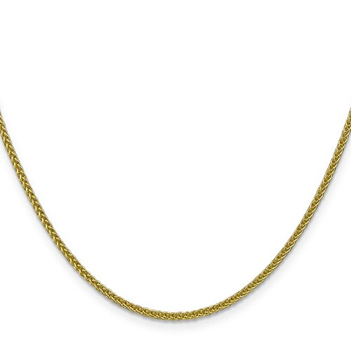 14k Yellow Gold 2.0mm Polished Wheat Chain Necklace 16'' by Venture Jewelers
