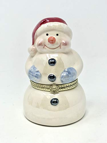 (HolidayCreations Snowman Limoges Music Box)