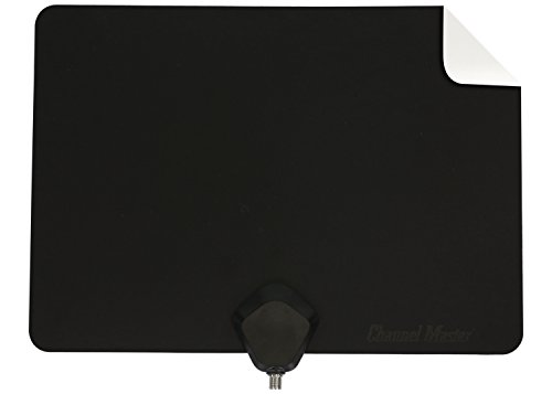 Channel Master Flatenna Ultra-Thin Indoor TV Antenna 35 Mile Range - Dual Sided Black or White - CM-4001HDBW