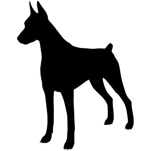- Fumak: 11.915.2CM Doberman Pinscher Dog Window Decoration Vinyl Decal Car Bumper Stickers Black/Silver C6-1706
