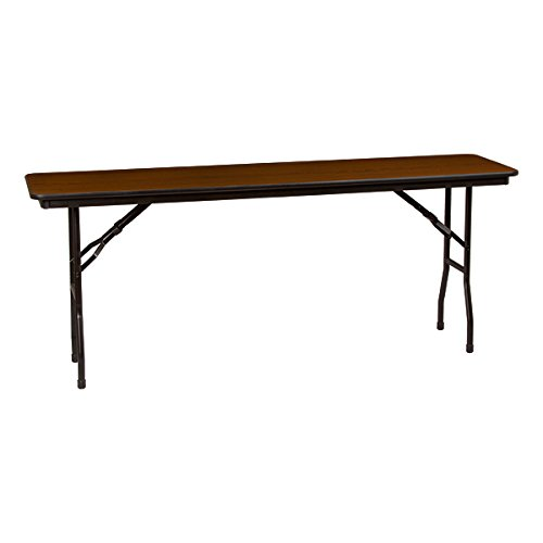 Norwood Commercial Furniture  Rectangle High-Pressure Laminate Top Folding Training Table, 72