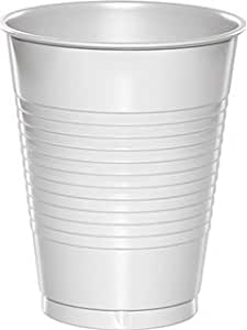 Bulk Plastic Cups   50ct (16oz, White)