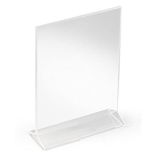 Top Acrylic Frame Displays 5.5 x 8.5-Inch Signs and Posters, Set of 12, Top Loading, Double-Sided (Clear) for sale