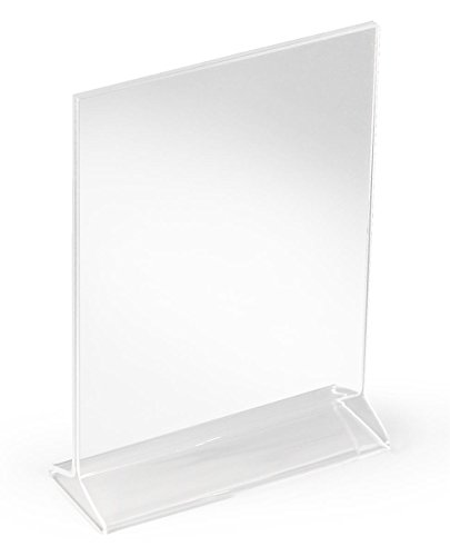 Acrylic Frame Displays 5.5 x 8.5-Inch Signs and Posters, Set of 12, Top Loading, Double-Sided (Clear)